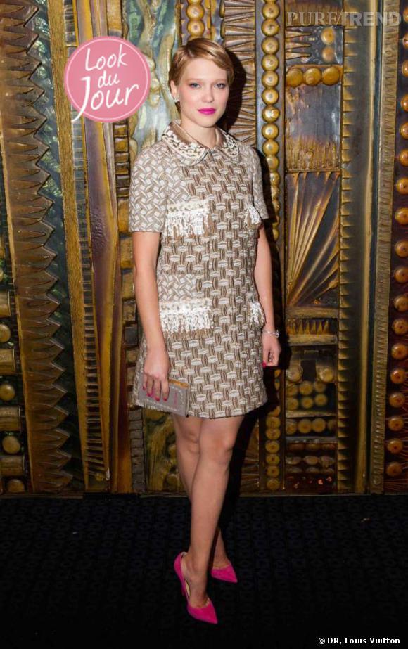 """Léa Seydoux lors de la première de """"L'enfant d'en haut"""" à l'occasion du 56ème BFI London Film Festival."""