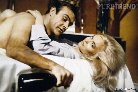 Film : Goldfinger.   Qui ? Sean Connery et Honor Blackman.   Année : 1964.
