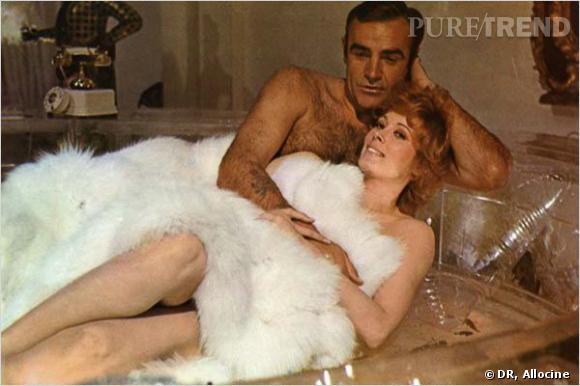 Film : Les diamants sont éternels.   Qui ? Jill St John et Sean Connery.   Année : 1971.