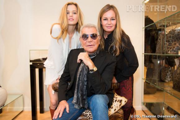 Georgia May Jagger en compagnie de Roberto Cavalli et sa femme Eva.