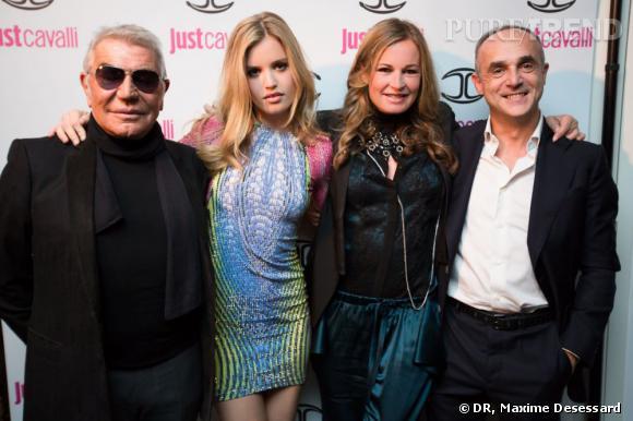 La soirée Just Cavalli a réuni tous les acteurs de la création de ce nouveau parfum.