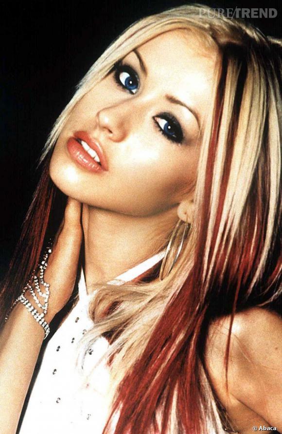 Christina aguilera p riode genie in the bottle les m ches en ce temps l c 39 tait totalement - Meche blonde et rouge ...