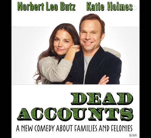 """Katie Holmes joue dans la pièce """"Dead Accounts"""" aux côtés de Norbert Leo Burtz, Josh Hamilton et Judy Greer."""