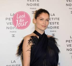 Laetitia Casta : bel oiseau de nuit pour célébrer la petite veste noire de Chanel