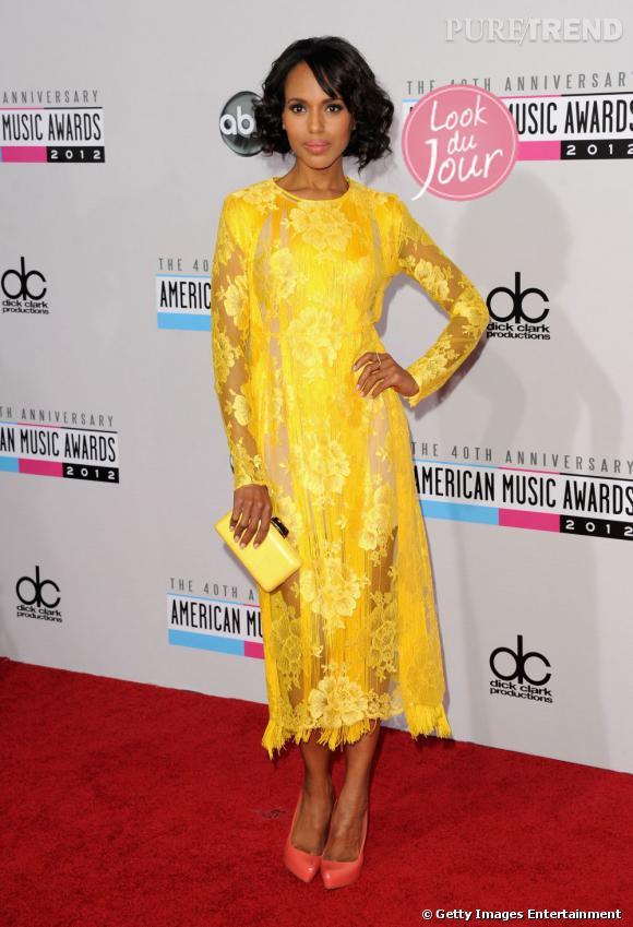 Kerry Washington rayonne dans une robe Stella McCartney de la collection Resort 2013.