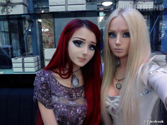 Devinez avec qui Anastasiya Shpagina est copine ? Valeria Lukyanova, la Barbie humaine !
