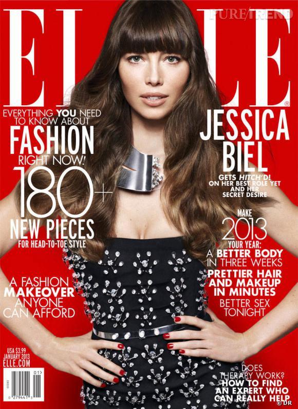 Jessica Biel pour le Elle magazine US de janvier 2013.