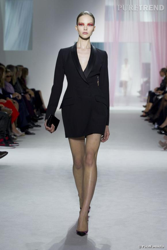 Inspiration podiums pour les fêtes : le smoking      Défilé   Christian Dior Printemps-Eté 20123