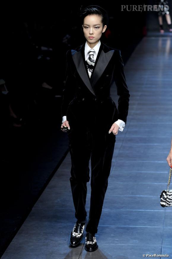 Inspiration podiums pour les fêtes : le smoking     Défilé Dolce & Gabbana  Automne-Hiver 2011/2012