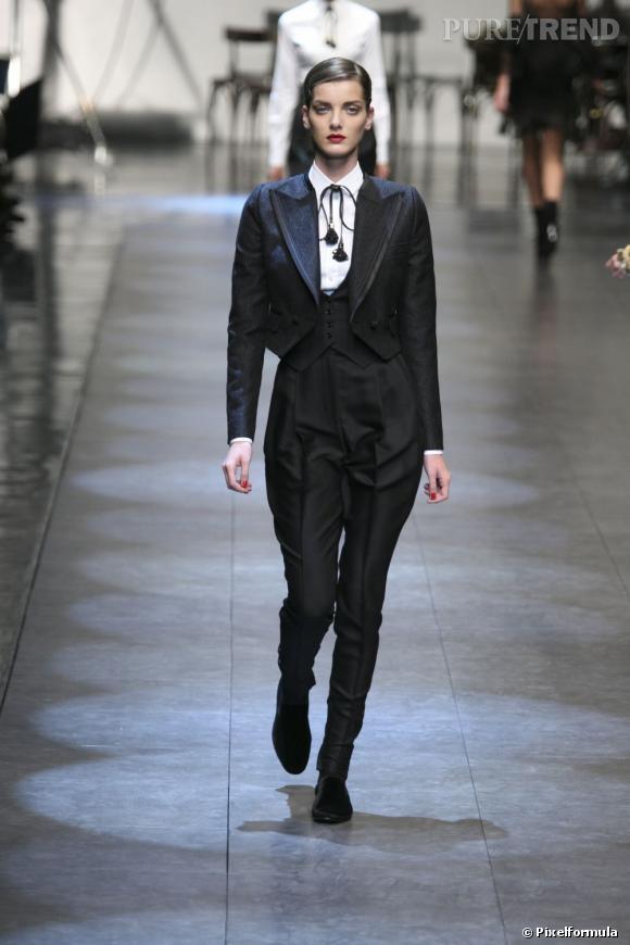 Inspiration podiums pour les fêtes : le smoking     Défilé Dolce & Gabbana Printemps-Eté 2010