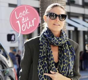Heidi Klum, maman chic et fashion. Le look du jour