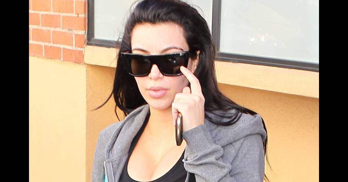 Kim kardashian fait du sport pour deux - Comment faire le maquillage de kim kardashian ...
