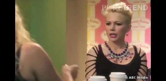 """Michelle Williams, la nouvelle guest star de la série """"Cougar Town""""."""