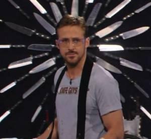 Ryan Gosling et Will Ferrell : droles de vendeurs de couteaux pour Jimmy Kimmel