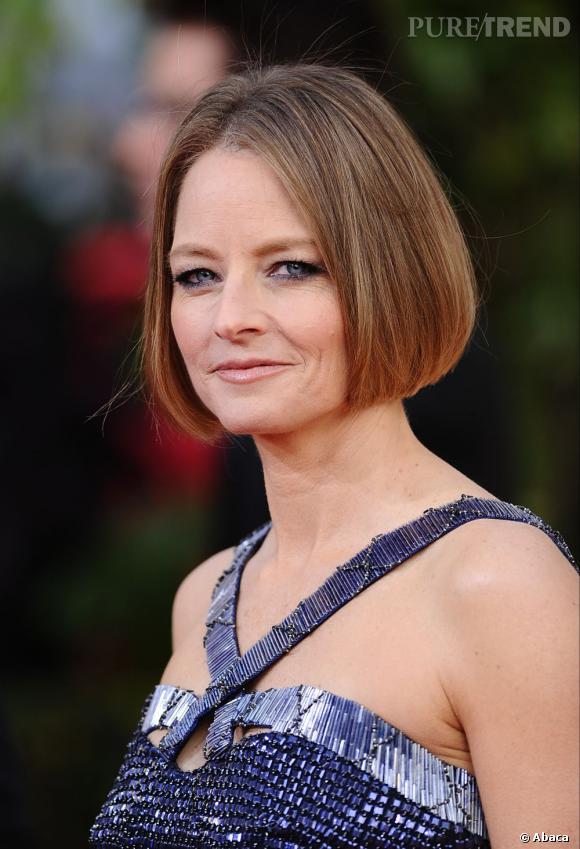 Les coiffures des Golden Globes 2013 : Jodie Foster a piqué le carré court d'Anna Wintour.