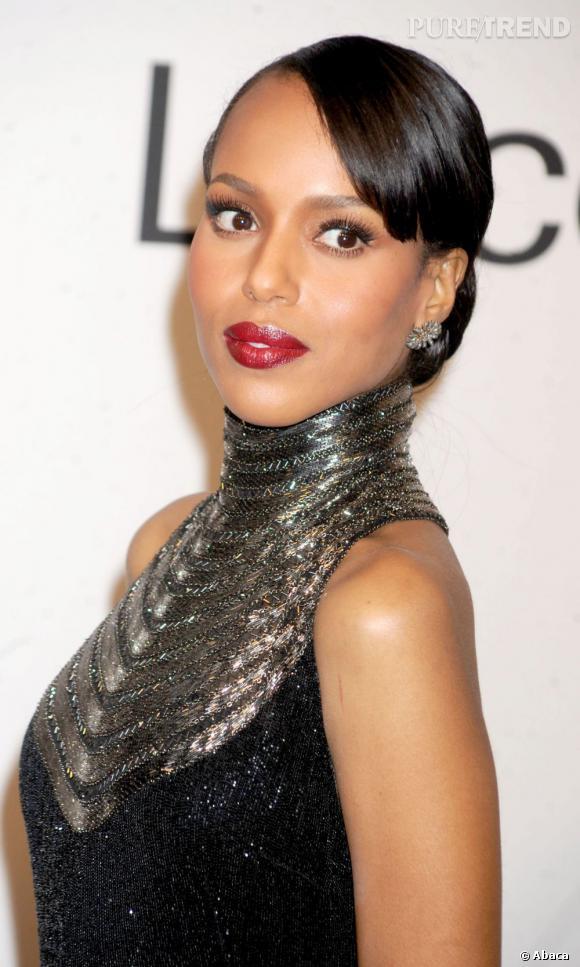 Les plus belles coiffures de Kerry Washington L'actrice nous impressionne avec ce beauty look ultra-sophistiqué.