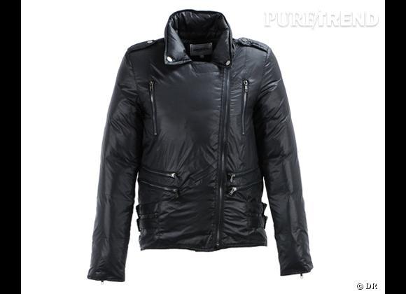 Fin de collection! Doudoune biker American Retro à moins 50 %Prix initial : 295 €Prix réduit : 147,50 € A shopper sur Galerieslafayette.com