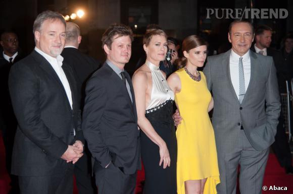 Kate Mara et l'équipe de la série.