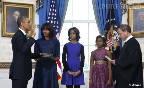 Michelle Obama en Reed Krakoff lors du serment de Barack Obama.