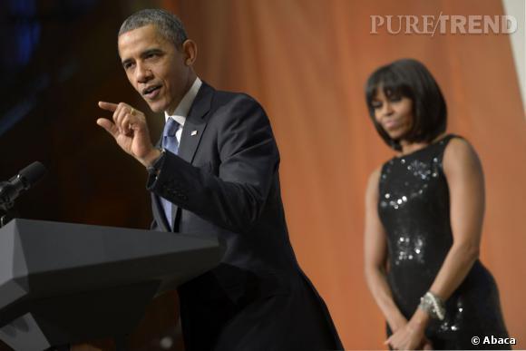 Michelle Obama a également porté une robe Michael Kors déjà vue en 2009.