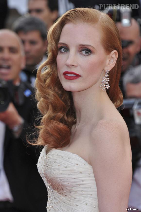 Jessica Chastain : Les plus belles coiffures d'une star très rétro