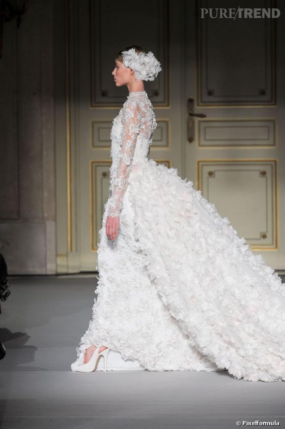 La robe de mariée Haute Couture Printemps-Eté 2013 !    Défilé Georges Hobeika, Couture