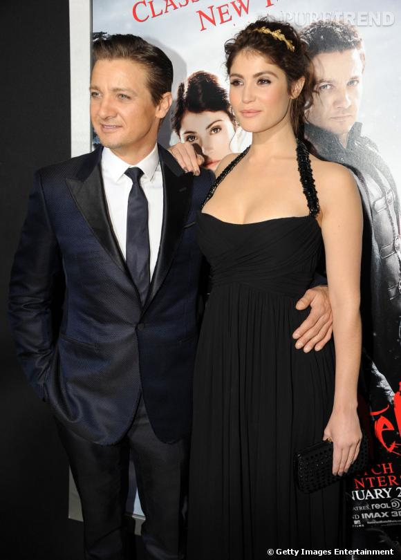 """Gemma Arterton et Jeremy Renner lors de la première de """"Hansel & Gretel : Witch Hunters"""" à Los Angeles."""