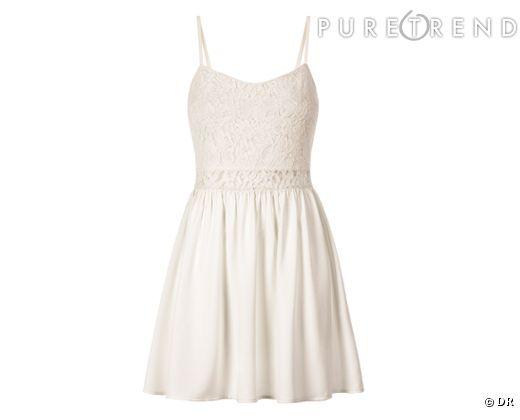 mariage civil trouver sa robe pour la mairie petite robe blanche h m 24 95 collection print. Black Bedroom Furniture Sets. Home Design Ideas