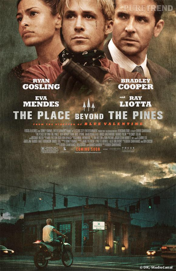"Ryan Gosling, Eva Mendes et Bradley Cooper dans ""The Place Beyond the Pines""."