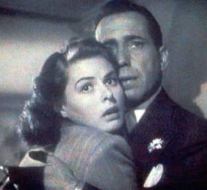 """Cette installation artistique permanente est également un hommage au film """"Casablanca"""" de 1942 de Michael Curtiz. Ici, Humphrey Bogart et Ingrid Bergman, les deux protagonistes de l'histoire."""