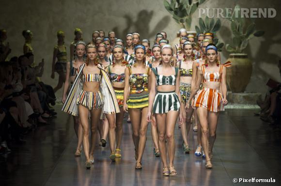 Défilé Dolce & Gabbana Printemps-Eté 2013.