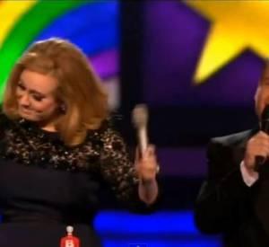 2012 : Alors qu'elle se lance dans les traditionnels remerciements après avoir reçu le Brit du meilleur album, Adèle est interrompue par James Corden lui signalant que Blur attend pour chanter. Pas vraiment ravie, elle quitte la scène après avoir fait un doigt d'honneur.