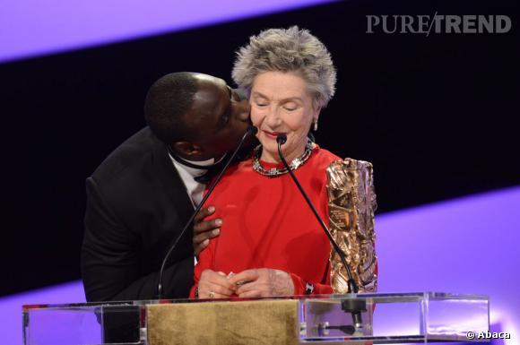 """César 2013 : Omar Sy et Emmanuelle Riva récompensée du prix de la Meilleure Actrice pour """"Amour"""""""