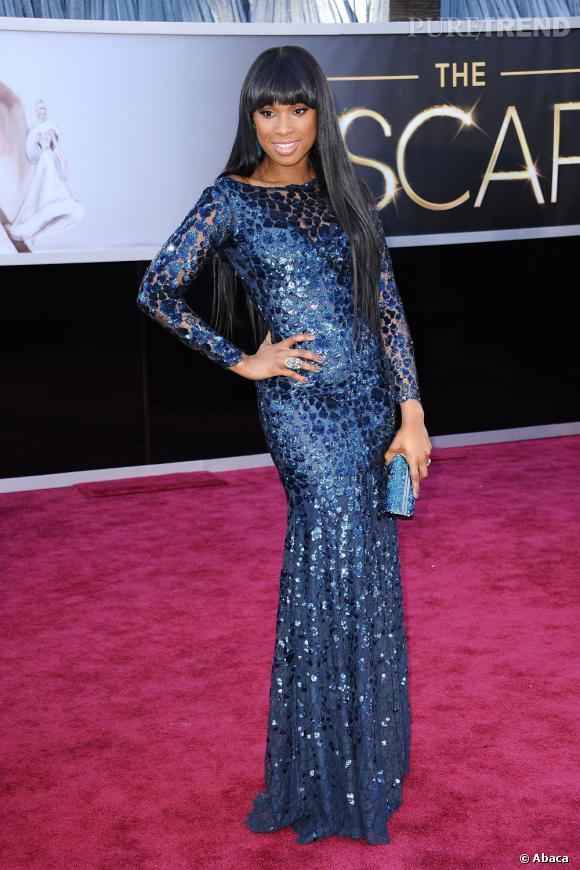 Jennifer Hudson aux Oscars 2013 en Roberto Cavalli.