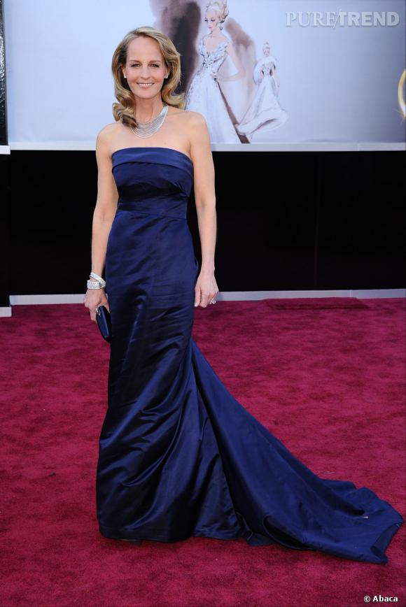 Helen Hunt aux Oscars 2013 en H&M.