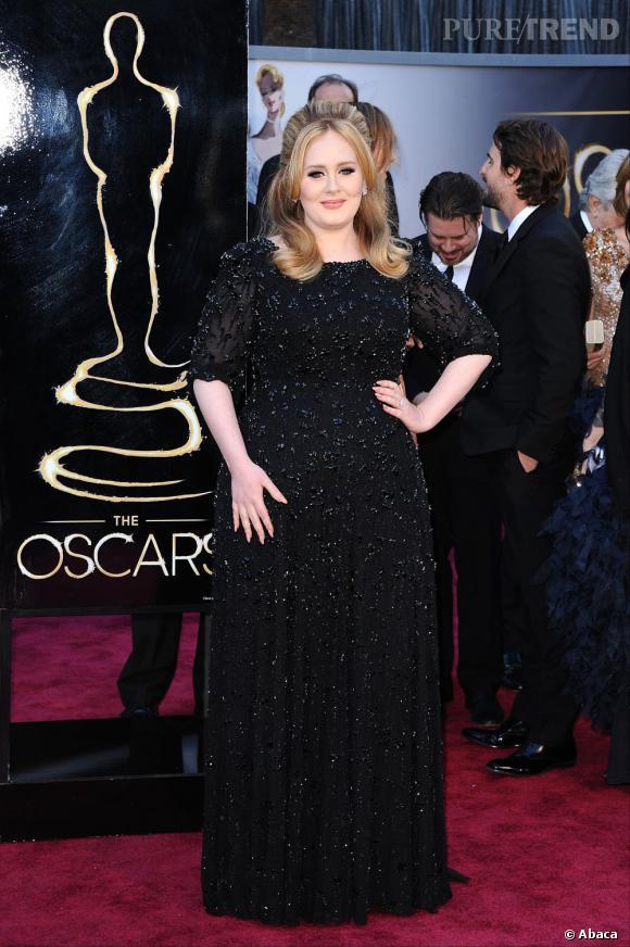 Adele aux Oscars 2013 en Jenny Packham.