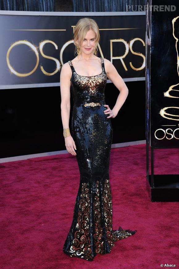 Nicole Kidman aux Oscars 2013 en L'Wren Scott.