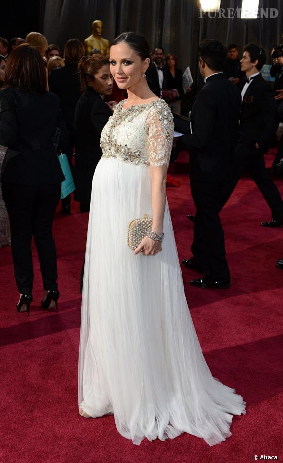Georgina Chapman aux Oscars 2013 en Marchesa.