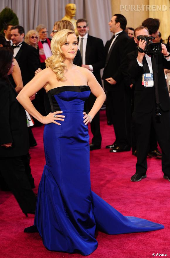 Reese Witherspoon aux Oscars 2013 en Louis Vuitton.