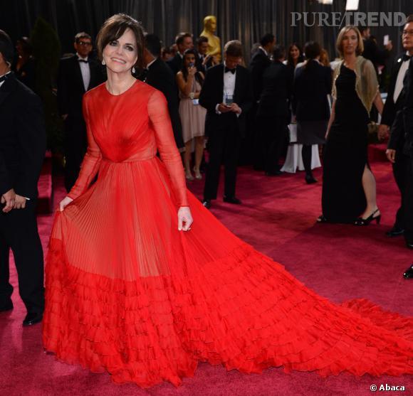 Sally Field aux Oscars 2013 en Valentino.
