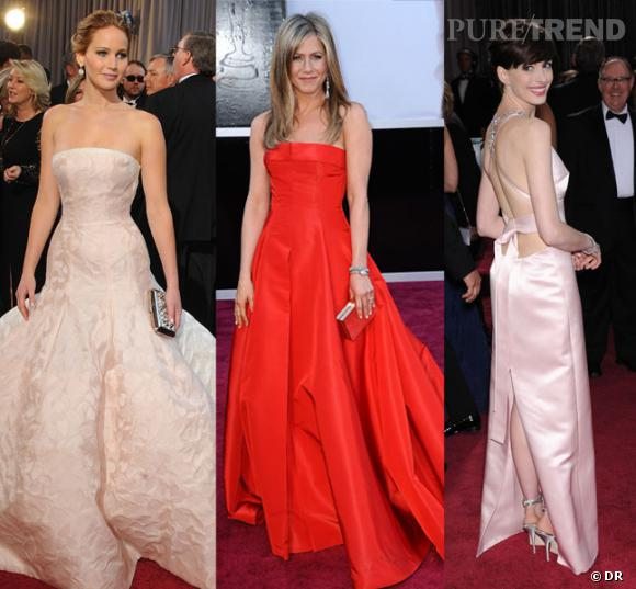 Oscars 2013 : Jennifer Lawrence, Jennifer Aniston, Anne Hathaway,... Les robes de la soirée