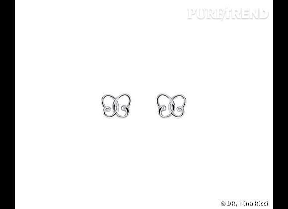 """Nina Ricci Printemps-Été 2013.        Puces d'oreilles collection """"Jardin d'été"""" en argent massif, 49€."""