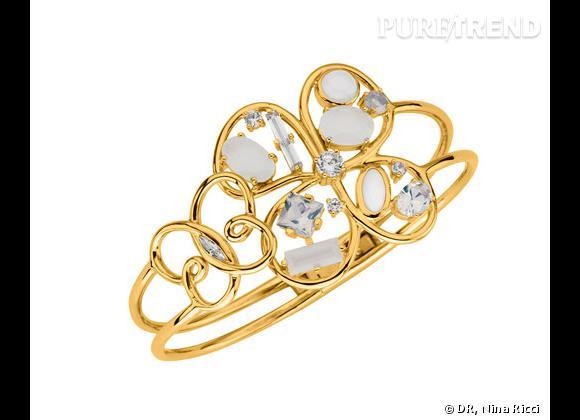 """Nina Ricci   Printemps-Été 2013.     Bracelet manchette collection """"Jardin d'été"""", 129€."""