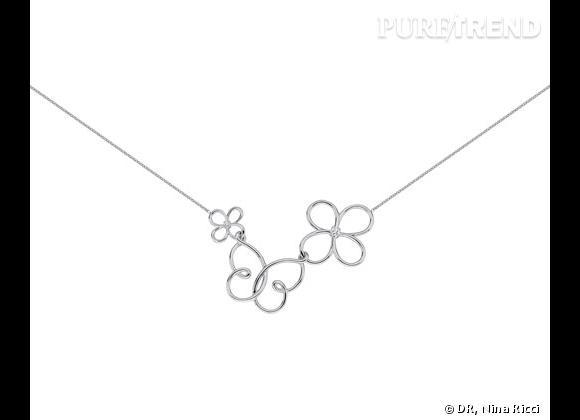 """Nina Ricci Printemps-Été 2013.     Collier collection """"Jardin d'été"""" en argent massif, 189€ ou en plaqué or, 169€."""