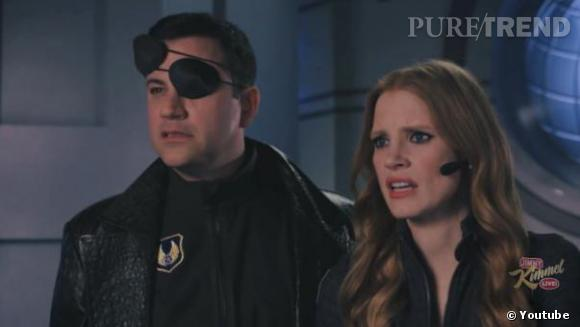 "Jimmy Kimmel s'entoure d'une floppée de stars comme Jessica Chastain pour son film parodique ""Movie : The Movie 2V""."