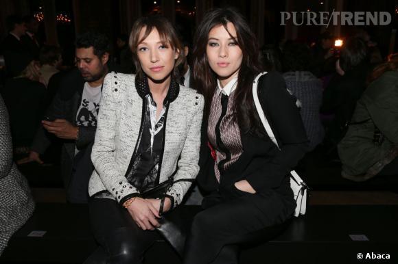 Laura Smet et Milène Jampanoï au défilé Barbara Bui Automne-Hiver 2013/2014 à Paris.
