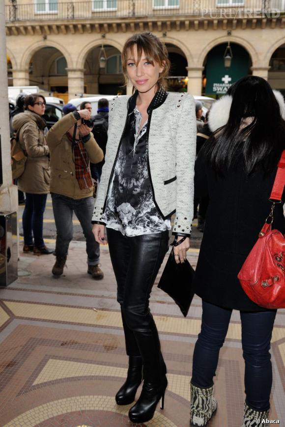 Laura Smet au défilé Barbara Bui Automne-Hiver 2013/2014 à Paris.