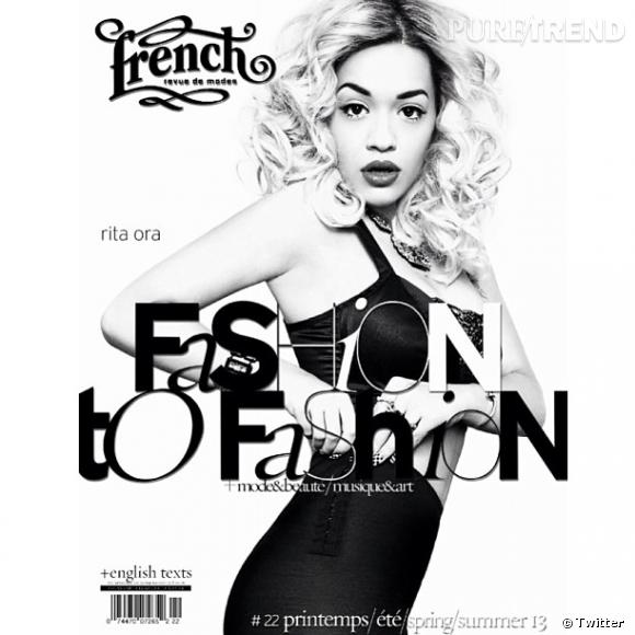Rita Ora a fait la couverture du magazine français French Revue.