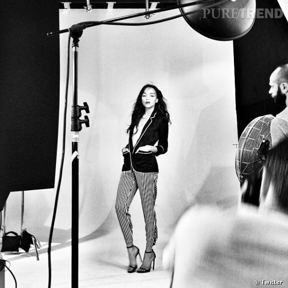 Ashley Madekwe nous propose de jeter un oeil dans les coulisses d'un shooting photo.