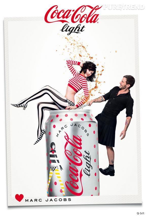 Marc Jacobs, très joueur sur les nouvelles affiches de Coca-Cola Light.